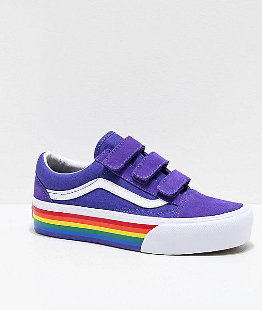 vans old skool rainbow skate chaussures uk