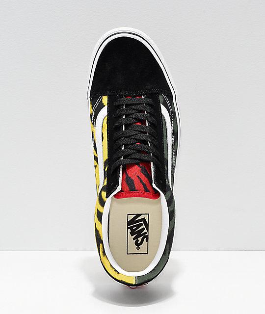 4829f6d2b35 ... Vans Old Skool Rasta Tie Dye Skate Shoes ...