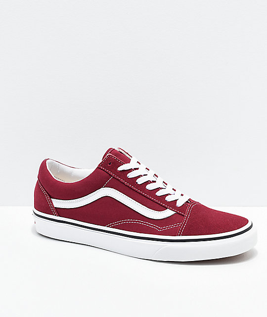 64a8a3cb0ff76 Vans Old Skool Rumba Red & White Skate Shoes | Zumiez