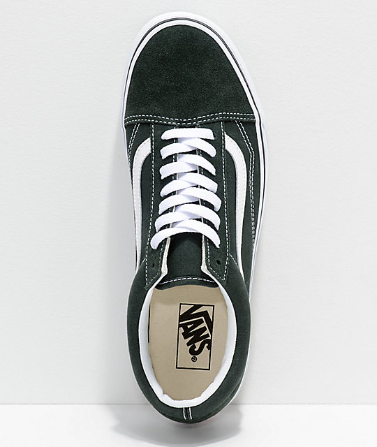 Vans Old Skool Scarab Green & White Skate Shoes