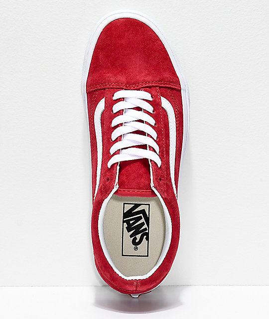 Vans Old Skool Scooter Red & True White Shoes