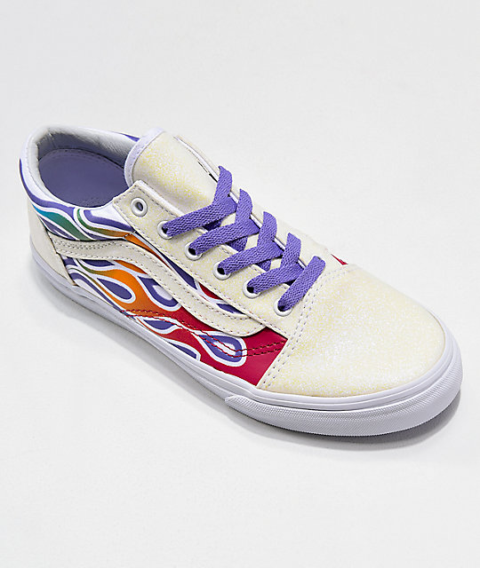 Vans Old Skool Sparkle Flame zapatos de skate