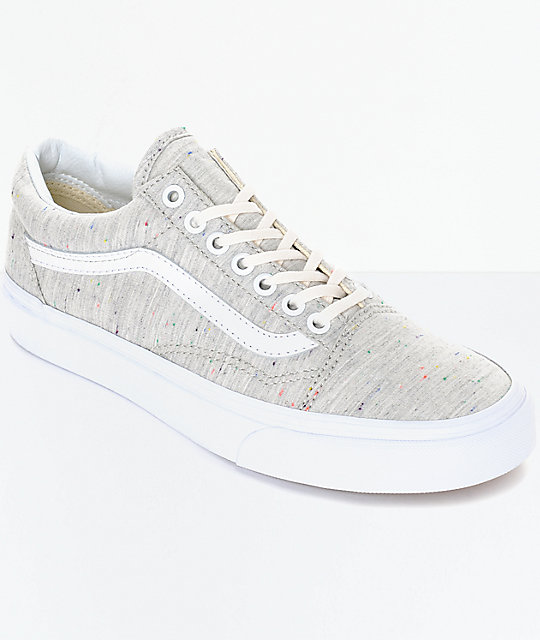 b3ece01e63 Vans Old Skool Speckle Jersey Grey Womens Shoes