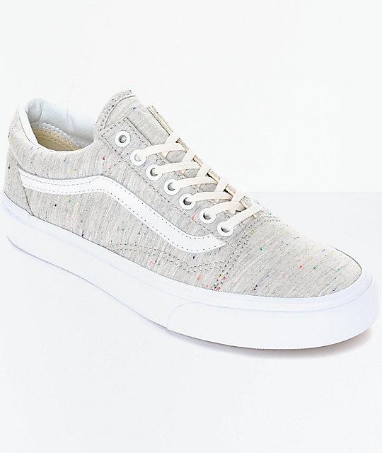 Vans Old Skool Speckle Jersey zapatos en gris para mujeres ... 34f3b1ae3b2