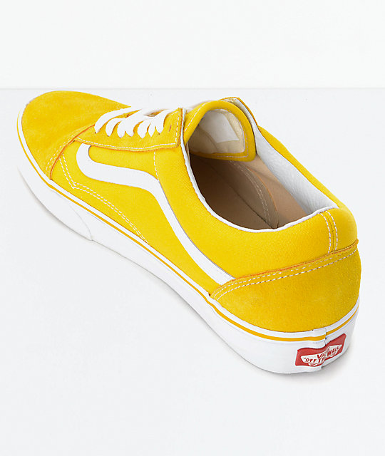 Vans Old Skool Spectra Yellow & White Skate Shoes