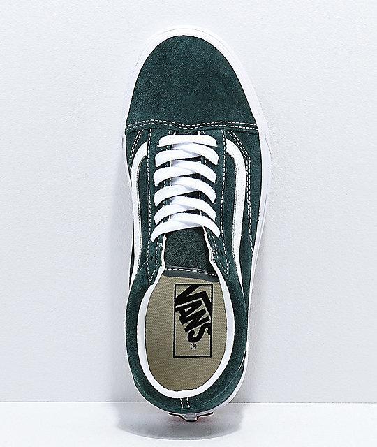 461303a57 ... Vans Old Skool Spruce zapatos de skate de ante verde ...