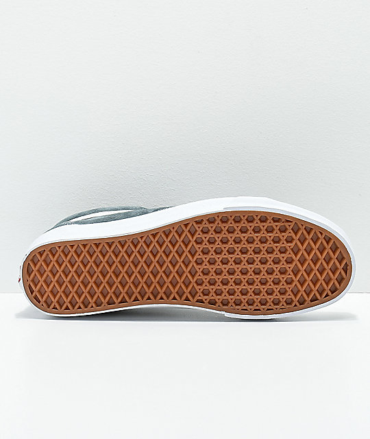 7366d39ac4 ... Vans Old Skool Stormy Grey   White Pig Suede Skate Shoes
