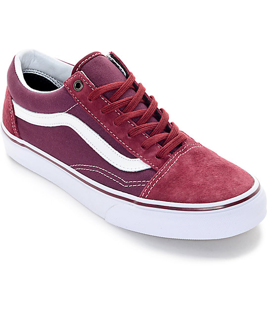 zapatillas vans old skool granates