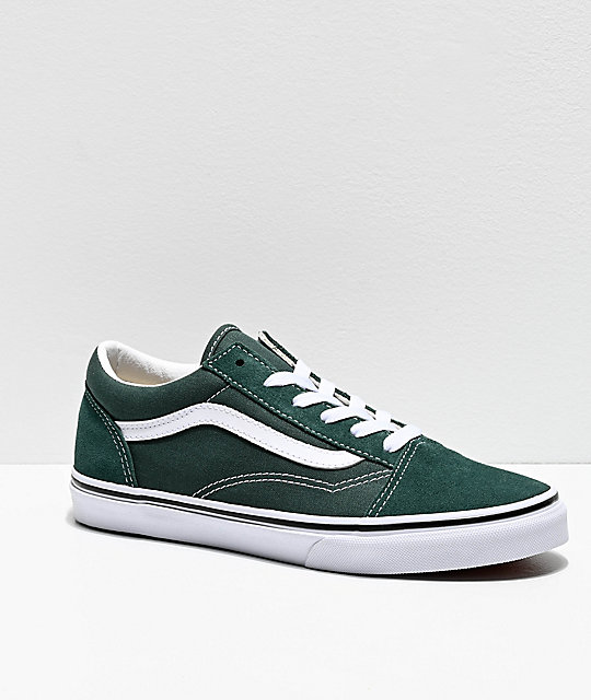 Vans Old Skool Trekking Green & White Skate Shoes