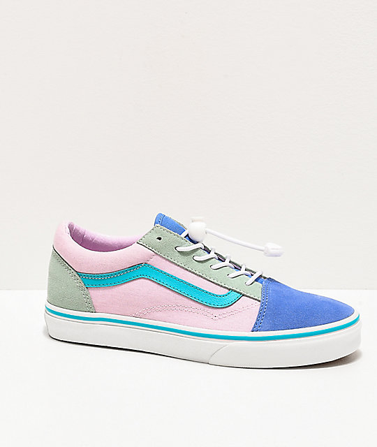 Vans Old Skool Ultramarine & Pink Colorblock Skate Shoes