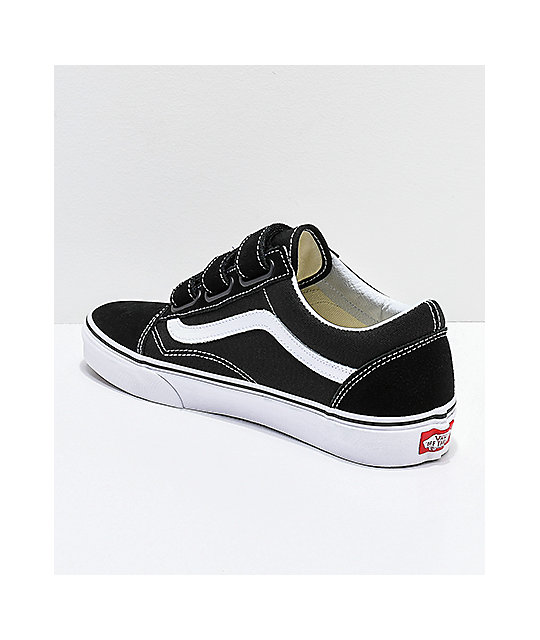 Vans Old Skool V Black & White Skate Shoes