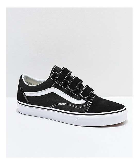 a46df0a871 Vans Old Skool V Black   White Skate Shoes