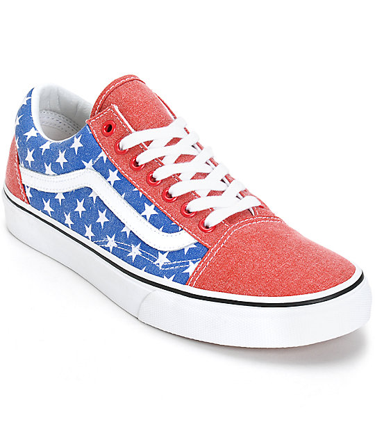 9651978c1bd Vans Old Skool Van Doren Stars and Stripes Skate Shoes