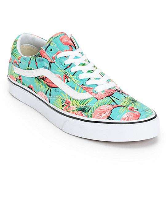 Vans Old Skool Van Doren zapatos de skate patrón de flamingo (hombre) ... 58844f9a174
