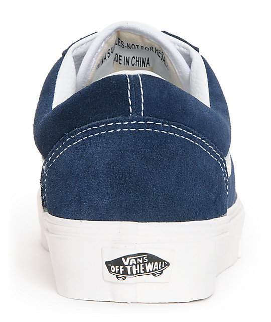 Vans Old Skool Vintage Dress Blue Skate Shoes