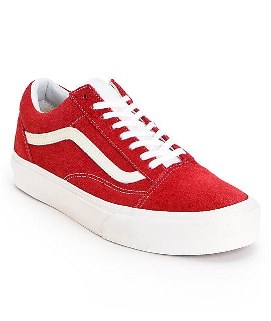 Vans Old Skool Vintage Rio Red Skate Shoes
