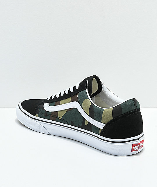 8d483276d2 ... Vans Old Skool Woodland Camo   Black Skate Shoes ...