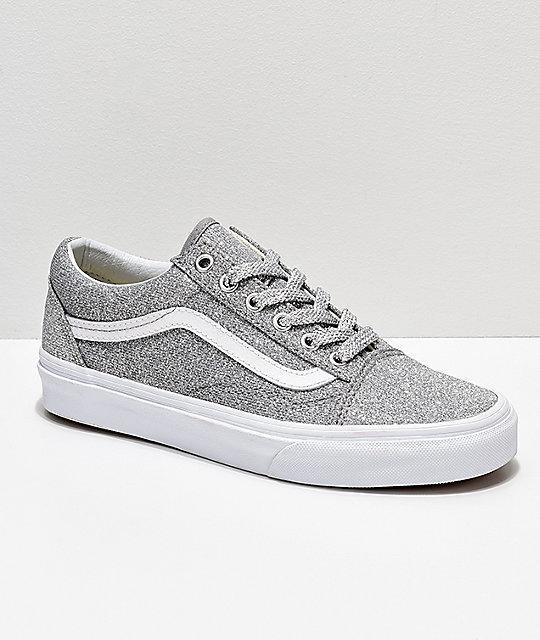 Vans Old Skool zapatos de skate con brillo plateado