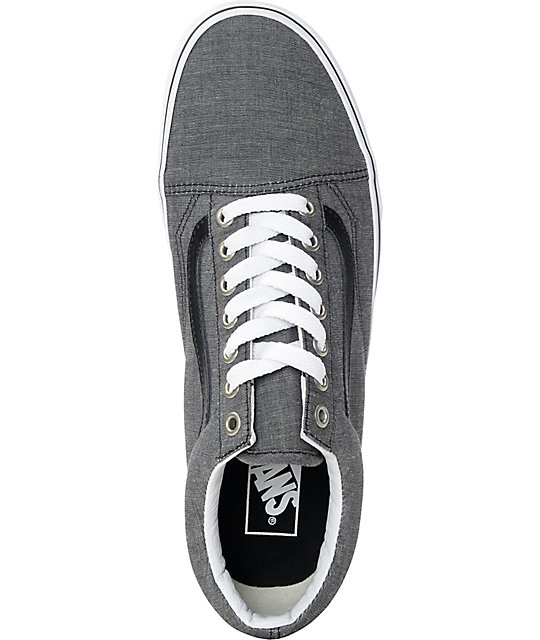 Vans Old Skool zapatos de skate en chambray negro