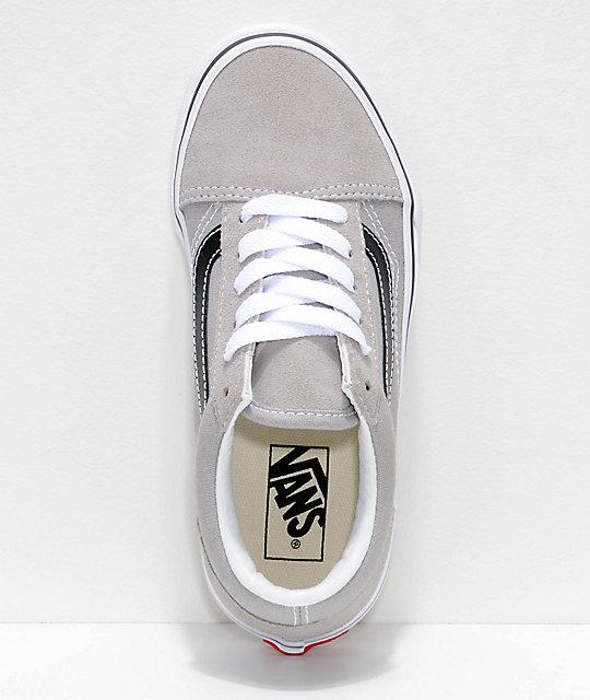 2ea3789b50 ... Vans Old Skool zapatos de skate en gris y negro ...