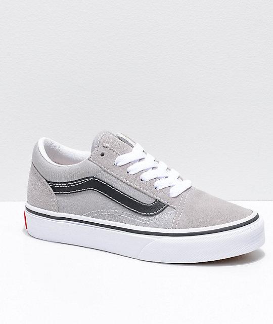 2356bdac03 Vans Old Skool zapatos de skate en gris y negro ...