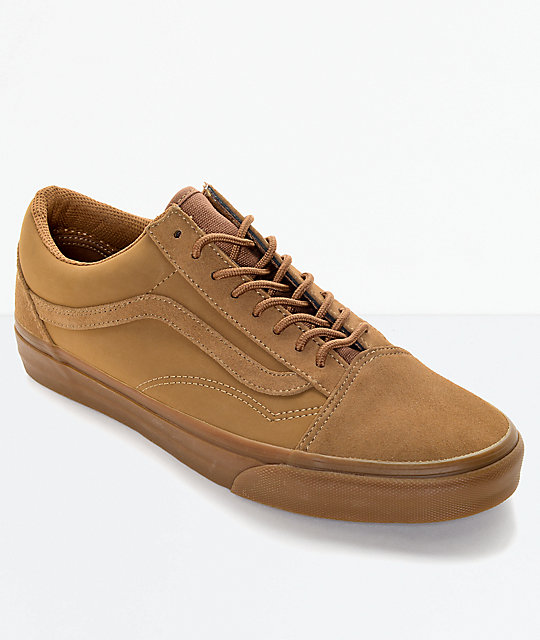vans old skool marrones