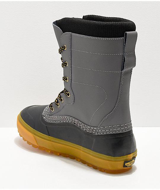 5f59d18958d ... Vans Pat Moore Grey   Black Standard Snow Boots ...