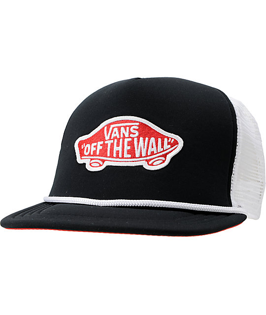 Vans Patch Black & Red Snapback Trucker Hat