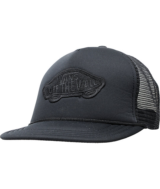 Vans Patchwork Black Trucker Hat
