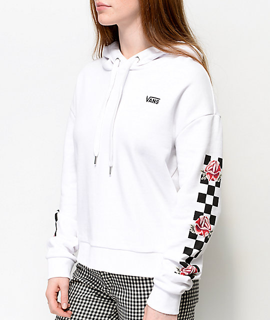 4ad000b98ff Vans Patchworker Checkerboard White Hoodie  Vans Patchworker Checkerboard  White Hoodie ...