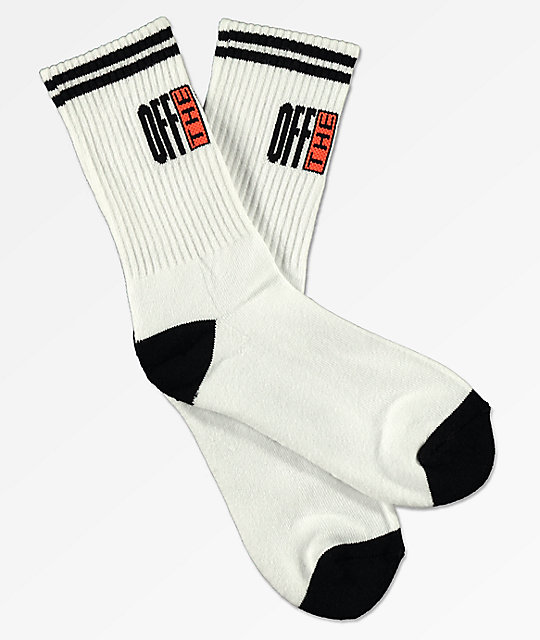 Vans Pinnacle White & Black Crew Socks