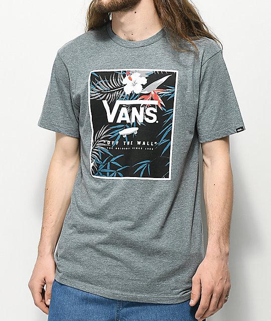 9e15008ac8 Vans Print Floral Box Grey T-Shirt