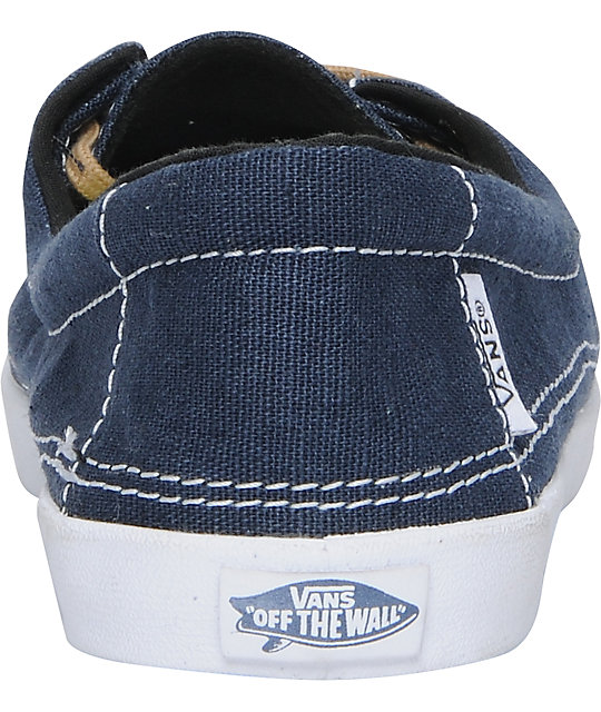 Vans Rata Lo Navy & Tan Hemp Shoes