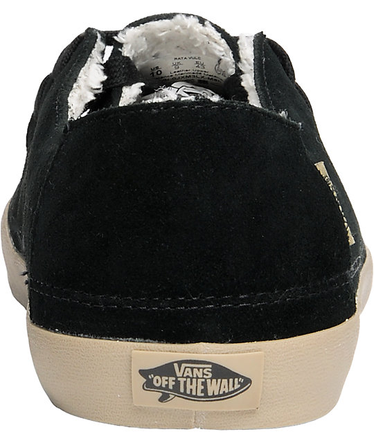 Vans Rata Vulc Black Fleece Lined Skate Shoes