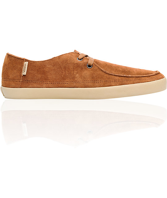 34f0ad853d1645 Vans Rata Vulc Brown Suede   Fleece Skate Shoes