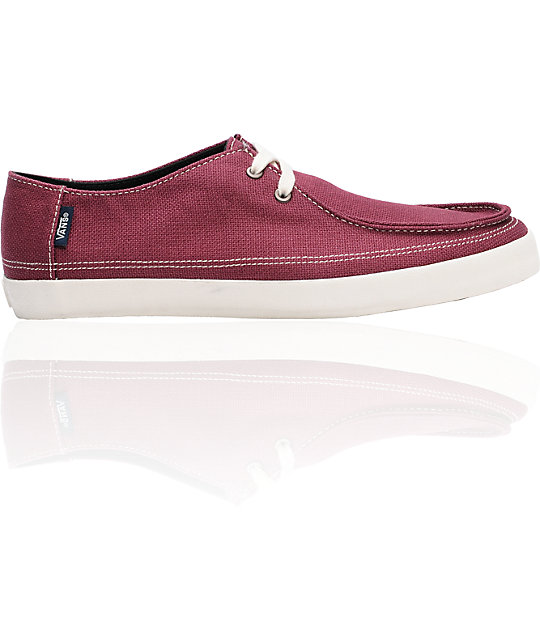 0d77e8c5f40 Vans Rata Vulc Burgundy Hemp Skate Shoes