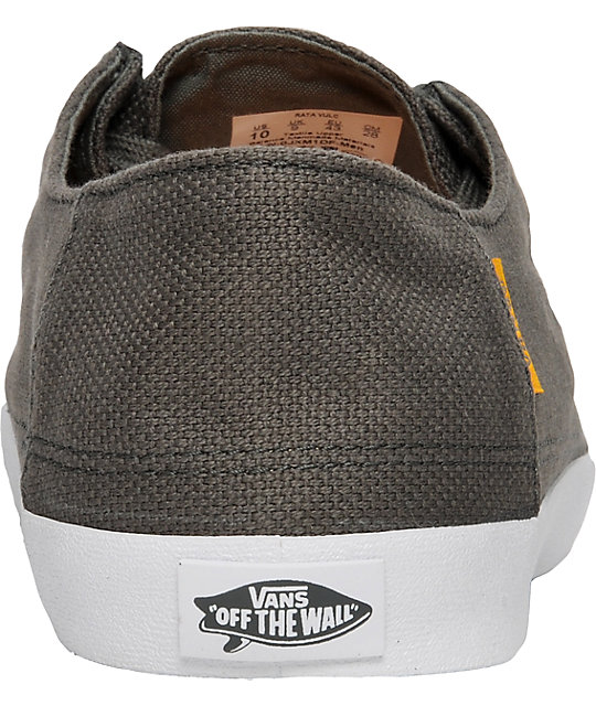 Vans Rata Vulc Charcoal Hemp Skate Shoes