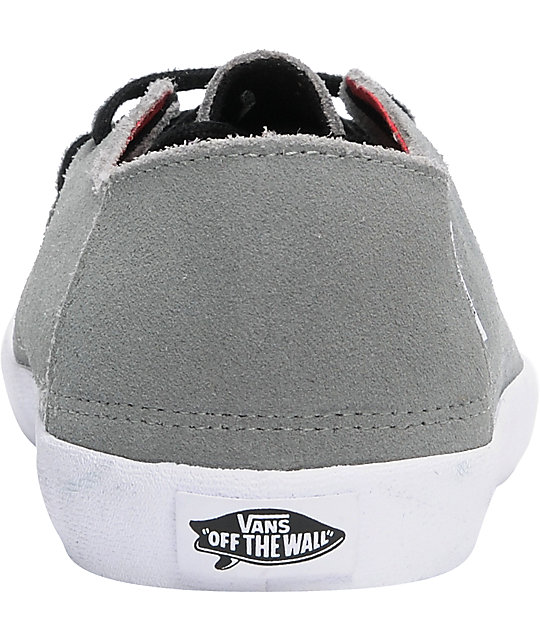 a661dad70b8724 ... Vans Rata Vulc Grey Suede Skate Shoes ...