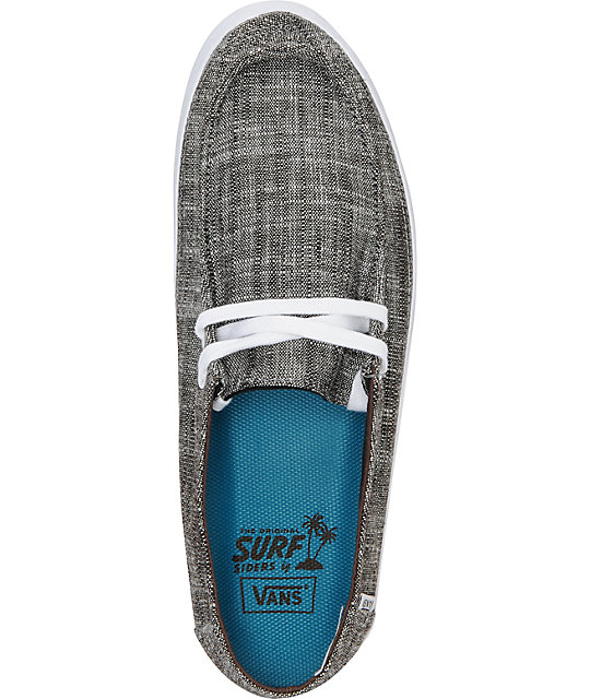 Vans Rata Vulc Linen Espresso Brown Skate Shoes