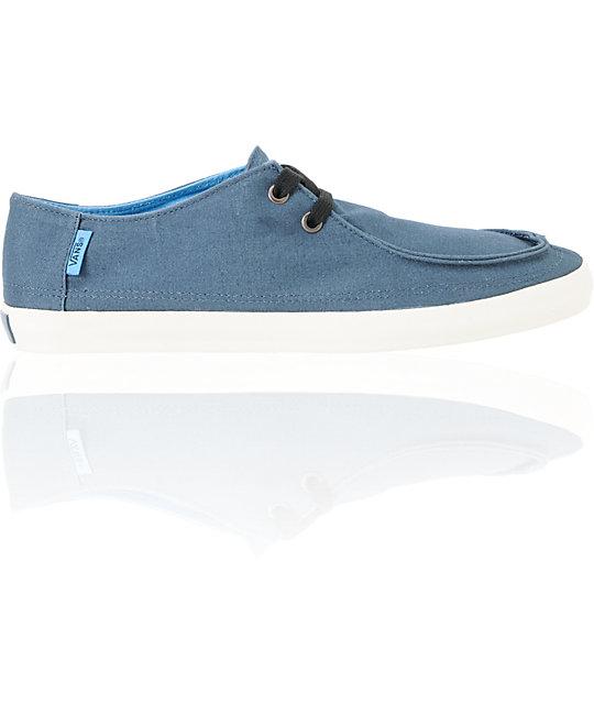 a2d3c75638 Vans Rata Vulc Majolica Blue Skate Shoes