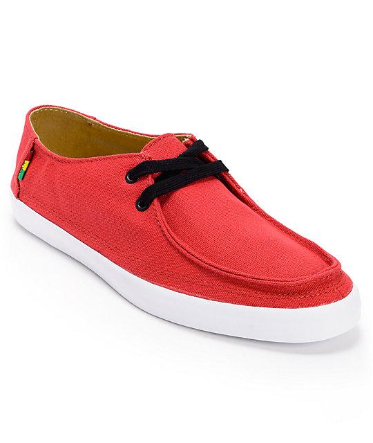 0bfcdf1931 Vans Rata Vulc Rasta Chili Pepper Red Skate Shoes