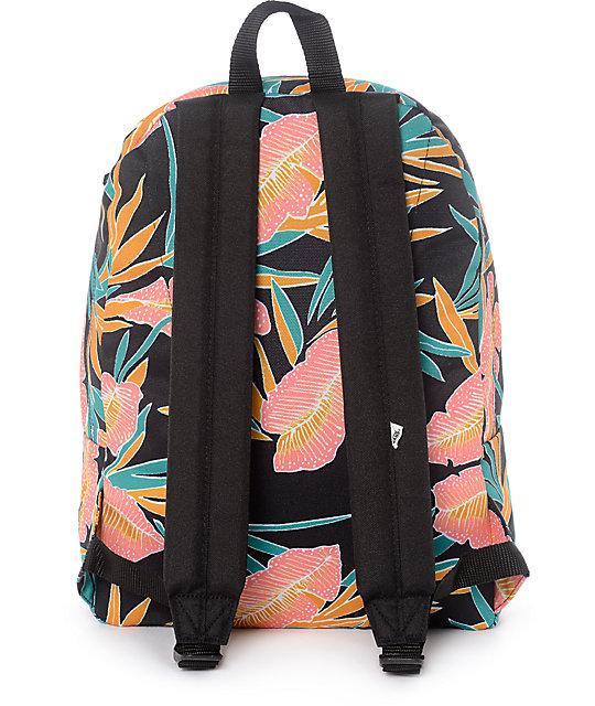 ... Vans Real Black Tropical Women s Backpack ...