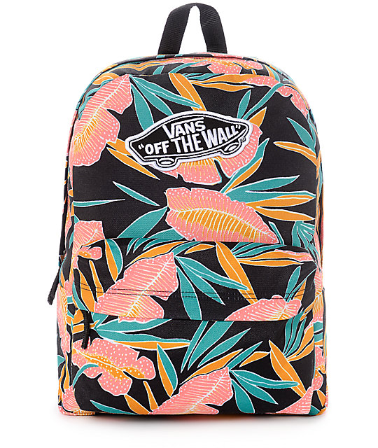 vans black backpack women's