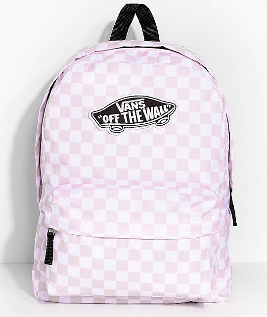 Vans Realm 22L mochila rosa a cuadros ... 89a5bb86880