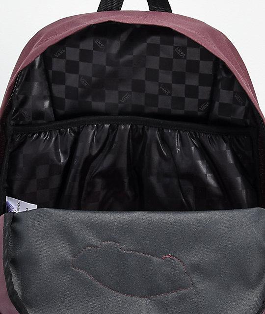 20edc494b30 Vans Realm Asphalt, Grape   Lavender Backpack   Zumiez