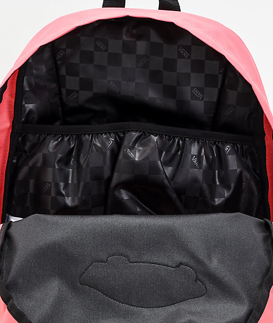 e91686fa050 Vans Realm Black & Desert Rose Backpack | Zumiez
