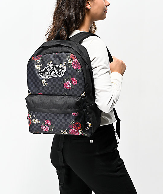 Vans Realm Botanical Checkerboard Backpack