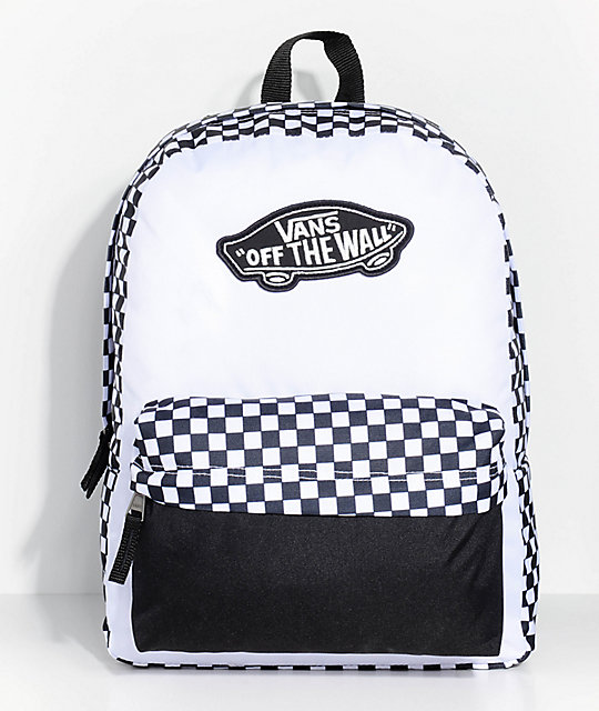 f57a0abfb630e8 Vans Realm Checkered 22L Backpack