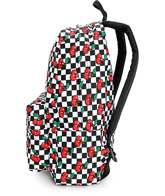 1af0f7570b ... Vans Realm Cherry Checkers Backpack ...