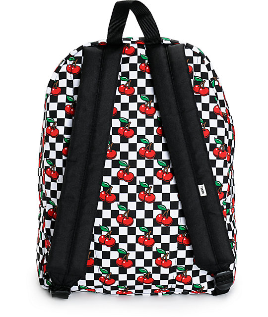 cd2586a3d2 Vans Realm Cherry Checkers Backpack  Vans Realm Cherry Checkers Backpack ...